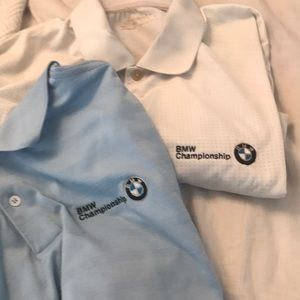 1 WHITE BMW GOLF SHIRT 1 Blue SIZE LARGE